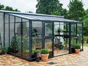Juliana Veranda PS2 lean-to greenhouse 14ft x 10ft