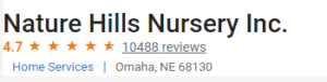 Review Ratings Nature Hills Nursery