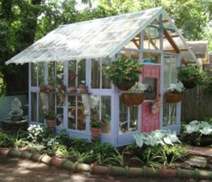 Cute White Frame Greenhouse