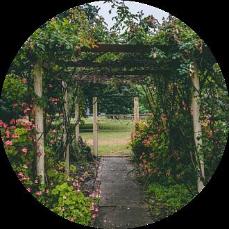 Garden with Arbors